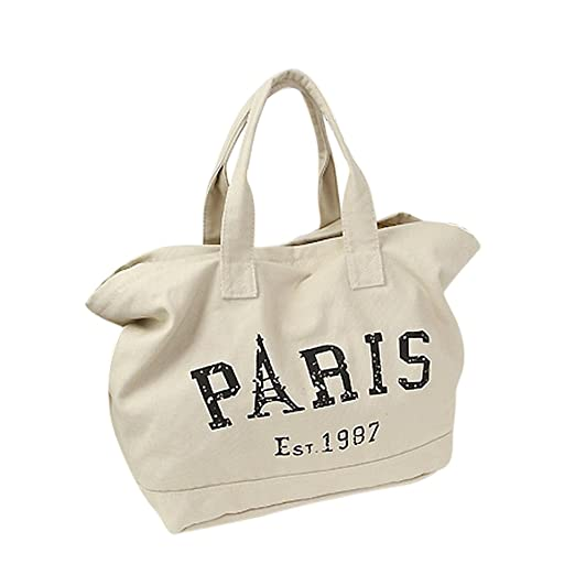 0ca8ebb469f7 Amazon.com: Womens Canvas Shoulder Bag Ladies Personality Letter ...
