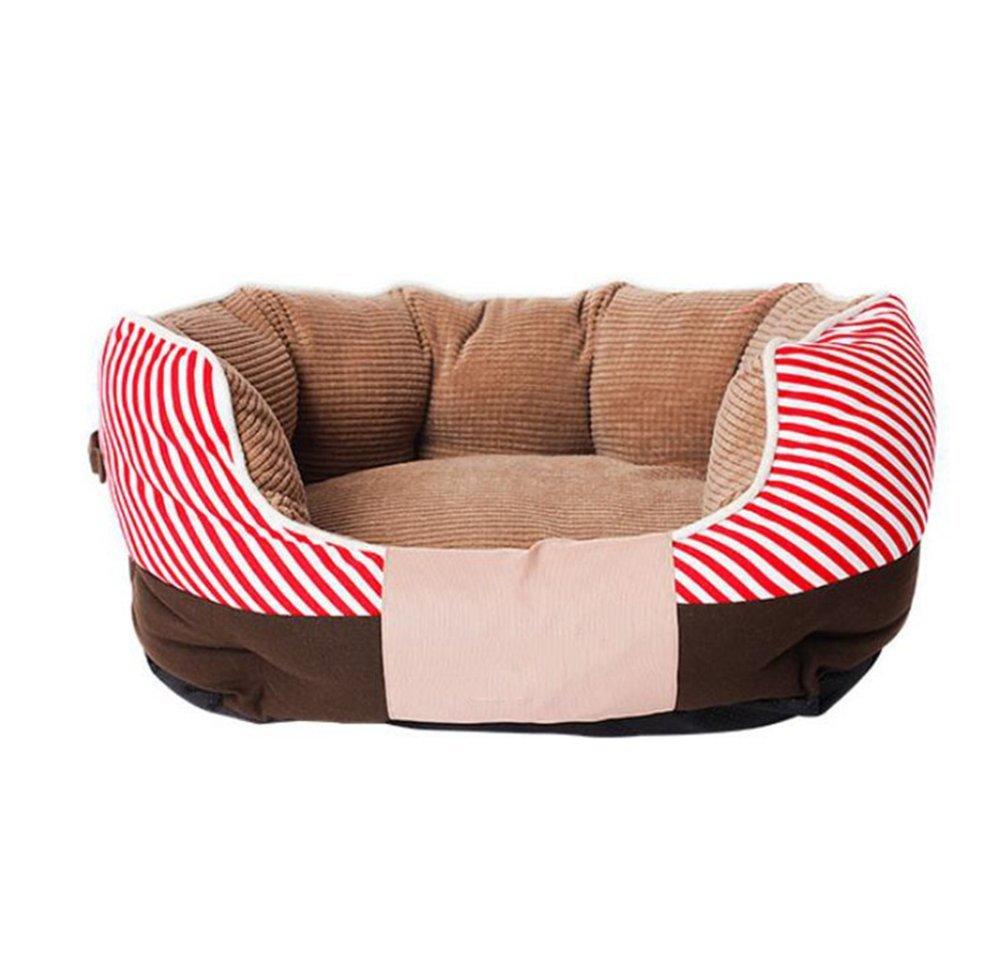 B 553023cm B 553023cm YunYilian Pet Bolster Dog Bed Comfort Pet Kennel Dog Bed Cushion cat Nest (color   B, Size   55  30  23cm)