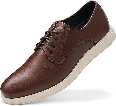 Zapatos de vestir Zapatillas para Hombres-Clásico con cordones Zapatillas de Deporte Inteligente Casual Zapatos de Trabajo
