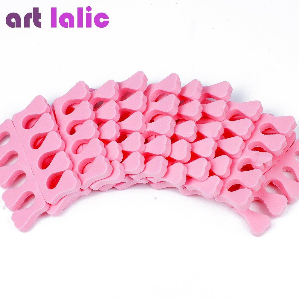 Artlalic 20PCS(10 pairs) EVA foam Toe Separators Finger Foot Sponge Soft Gel UV Tools Salon Polish Manicure Pedicure Nail Art