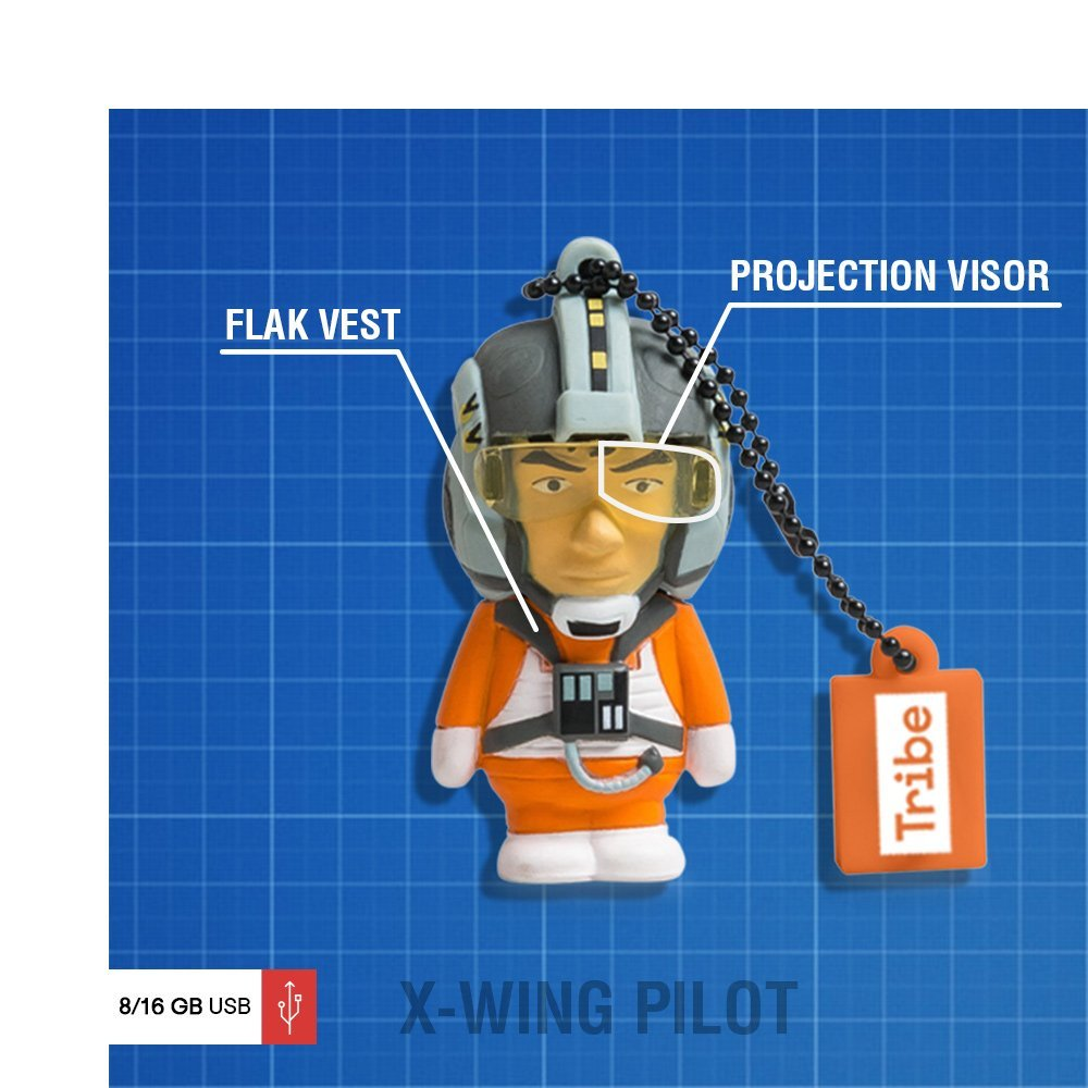 Llave USB 8 GB X-Wing Pilot - Memoria Flash Drive 2.0 Original ...
