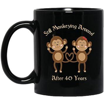 Amazon 40th Wedding Anniversary Coffee Mug Cute Couples Women