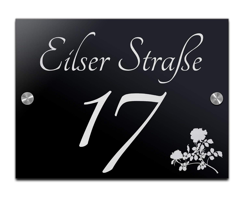 Hausnummer mit Gravur mit /über 80 Motiven Familien-Haus Familienschild T/ürschilder f/ür die Haust/ür mit Namen 20x15 cm Edles T/ürschild