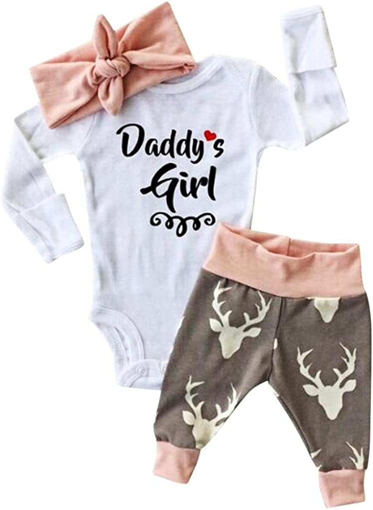 Sfuzwg Infant Baby Girl Clothes Sets 2pcs Outfits Romper Pants Autumn Winter Floral Bodysuits