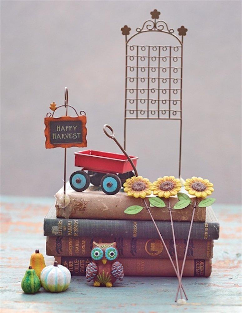 Studio M Gypsy Miniatures Gift Boxed Mini Garden Kit, 10-Piece, Harvest Life