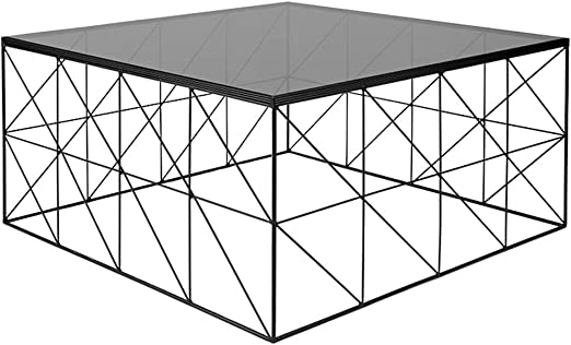 Mesa de Centro Simple, Estructura de Hierro Forjado, Escritorio de ...