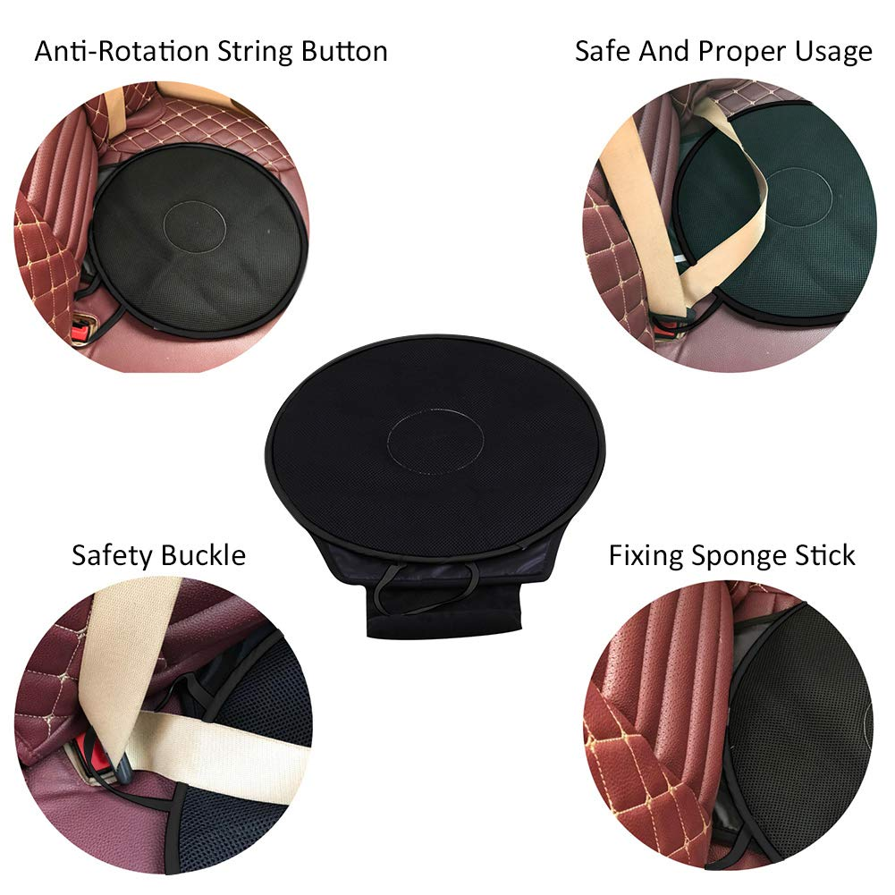 Dark Gray KATURN Rotation 360/° Memory Sponge Rotating Car Seat Car Cushion Breathable Cover Fixed Base Home Office Car Seat Swivel Cushion