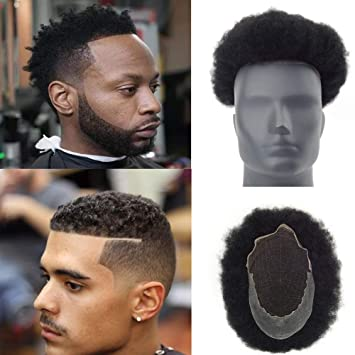 Amazon.com   Lordhair Afro Toupee Hairpiece with 100% human hair for Men  10x8 inch French Lace Base with PU Around Afro Wig Men Color  1B   Beauty ece117166