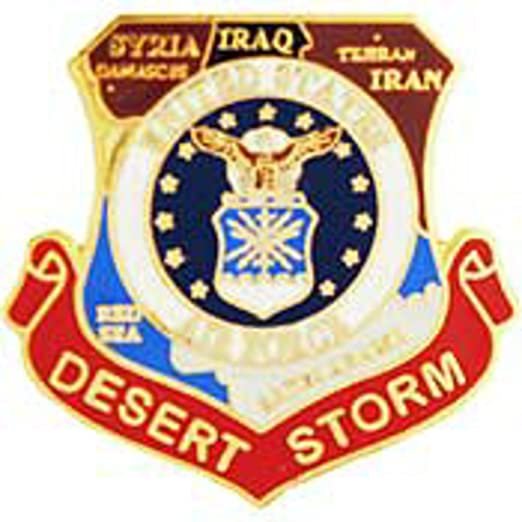 Amazon.com: United States Air Force Desert Storm Map Pin Military ...
