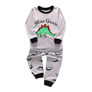 14d4d41ef3ad Amazon.com  SUJING Toddler Infant Baby Boys Outfit Set Deer Dinosaur ...