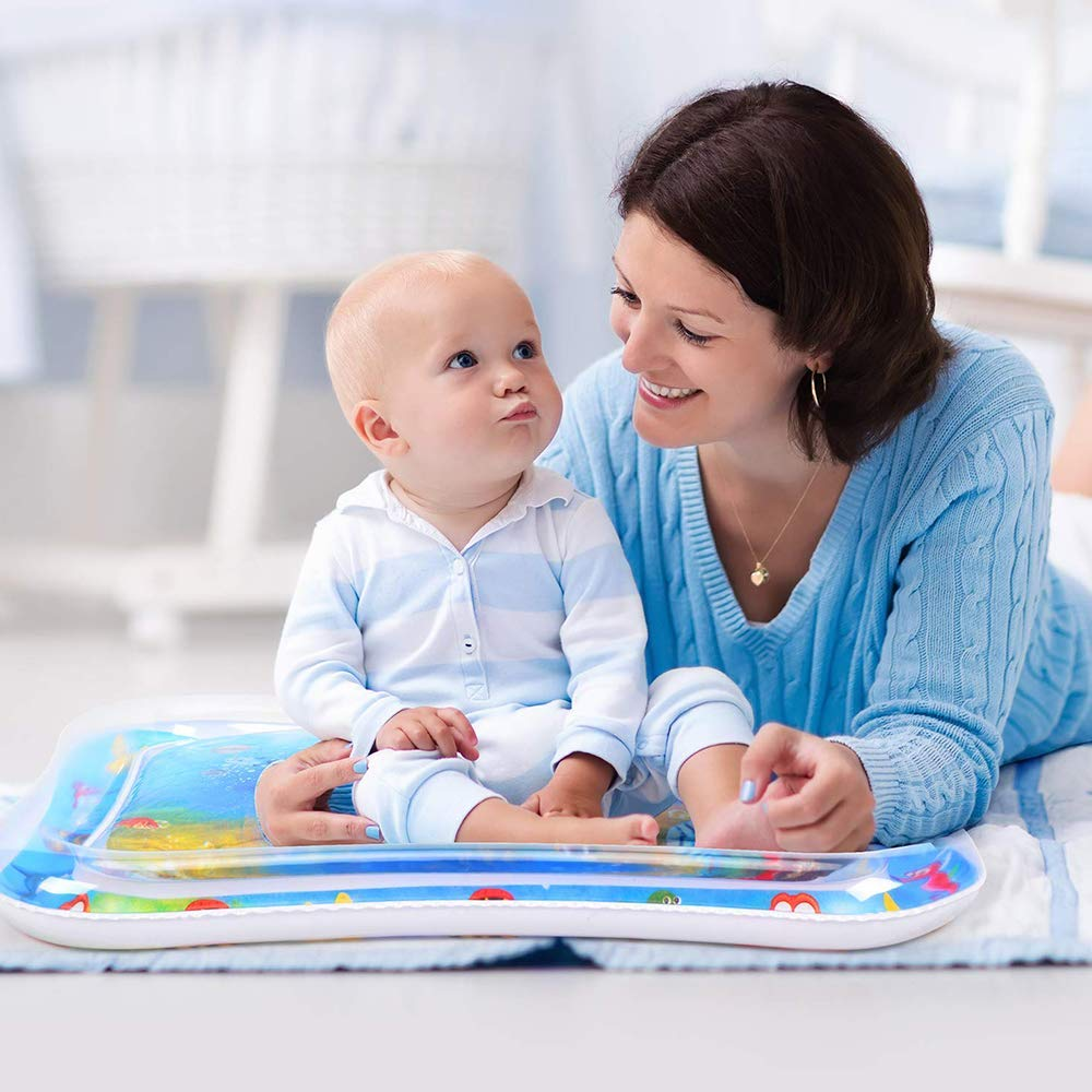 Raxoon Infants & Toddlers Tummy Time Water Mat, Perfect Toys for Your Baby's Stimulation and Growth