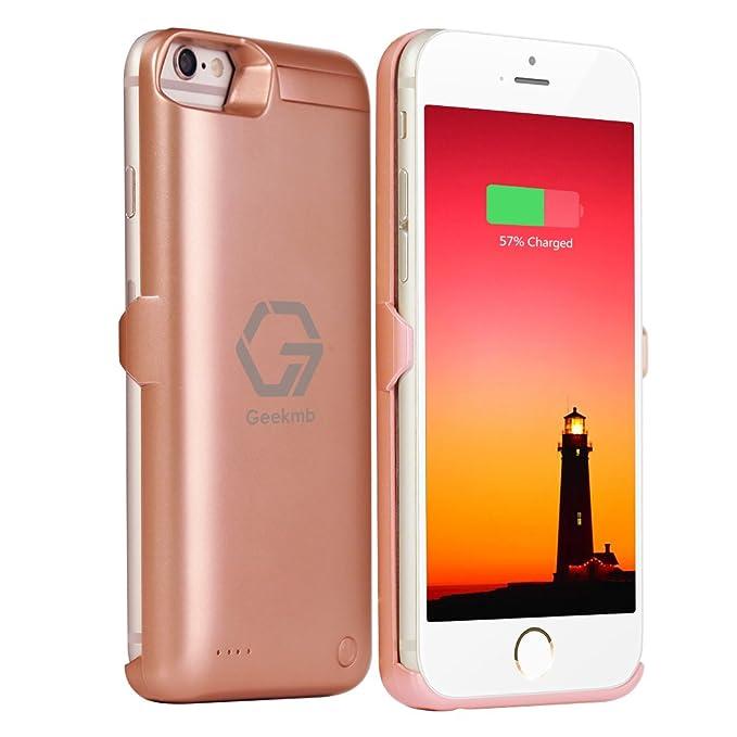 geekmb iPhone 7 carcasa de batería, 5800 mAh Extended ...