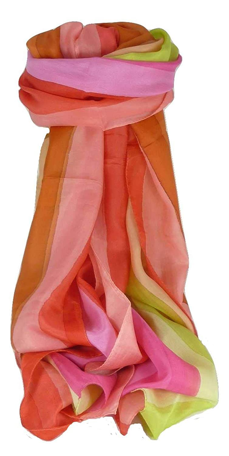 8c9c2439 Mulberry Silk Classic Long Scarf Shashtri Rainbow Palette by Pashmina &  Silk at Amazon Women's Clothing store: