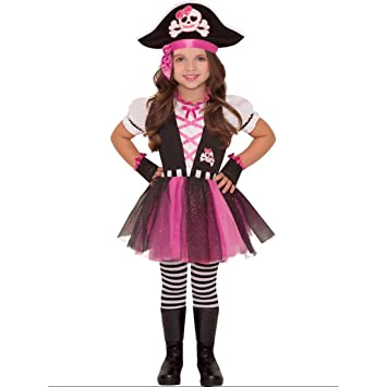 4493bacc Dazzling Pirate And Hat Girls Fancy Dress Caribbean Buccaneer Kids Childs  Costume