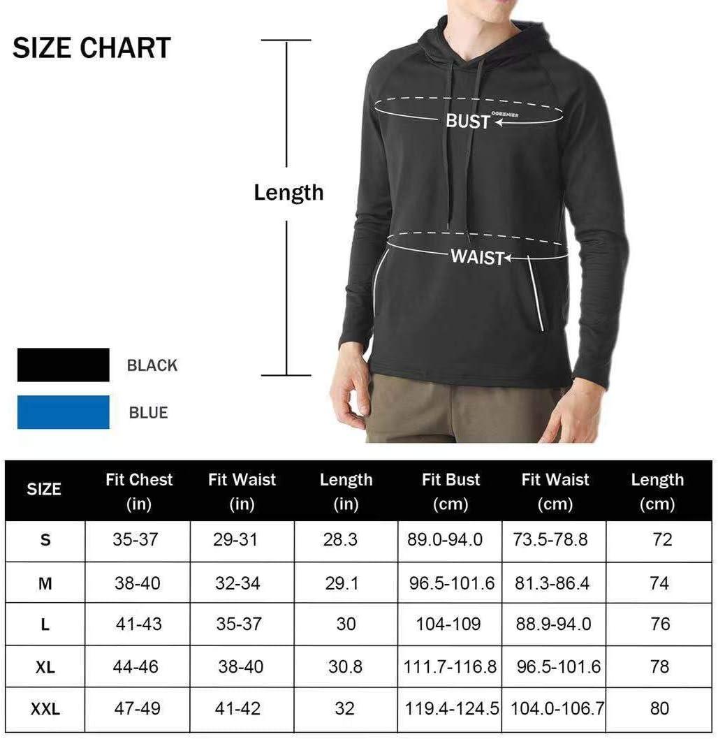 Ogeenier Le Sweat-Shirt /à Capuche pour Homme Pull Fleece Homme Sweats Casual Sweats De Sweat /À Capuche /à Manches Longues Homme Sweat avec Capuche Zip Sportif