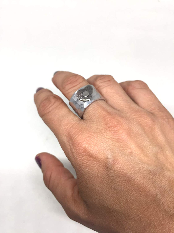 anello a fascia in alluminio con cuore