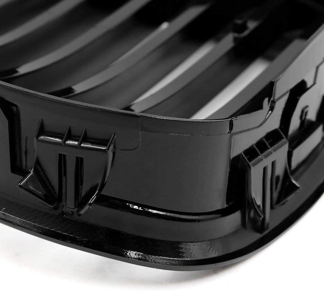 51137005837 51137005838 Semoic Front Bumper Hood Kidney Grille Grill for E39 5 Series 525I 528I 530I 540I M5 4-Door 1997-2003 Bright black