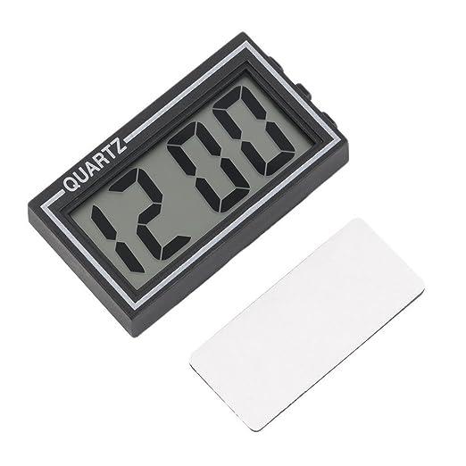 Black Digital LCD Table Car Dashboard Escritorio Fecha Hora Calendario Pequeño reloj como muestra la imagen