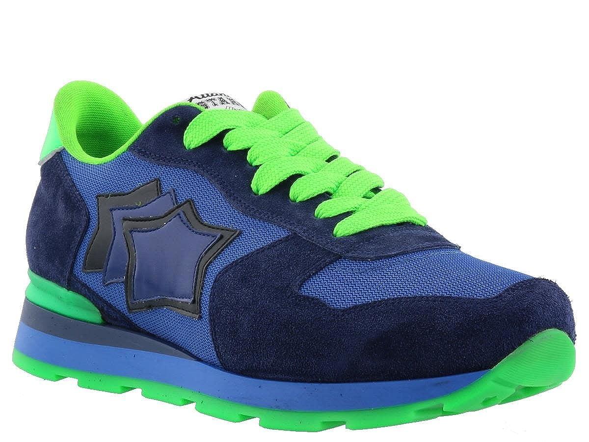 ATLANTIC STARS Sneaker in Camoscio e Tessuto Uomo Mod. ANTARES Azzurro e Verde AM-38VF 42 -
