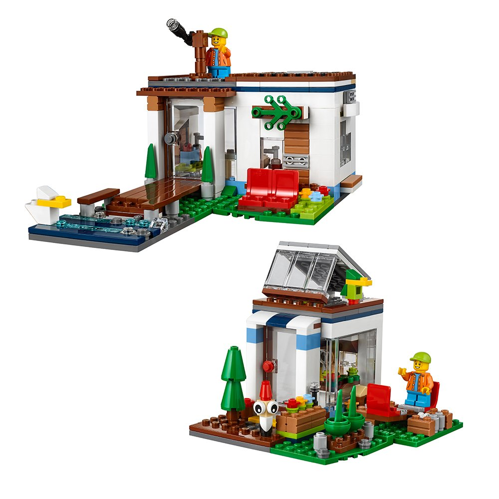 Amazon.com: LEGO Creator Modular Modern Home 31068 Building Kit (386 ...