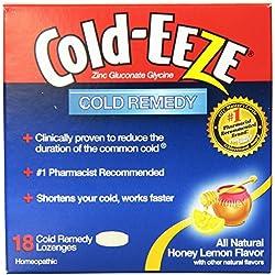 Cold-Eeze Remedy Lozenges, Honey Lemon, 18 Count (Pack of 48)