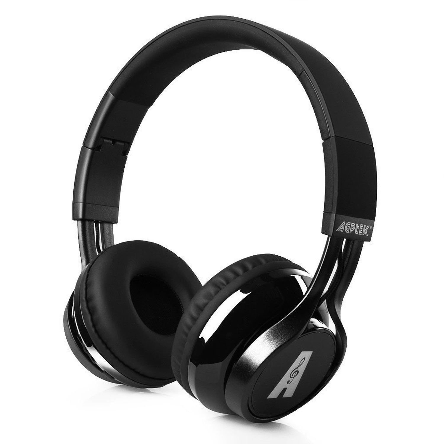 Bluetooth Headset, Foldable Over Ear Wireless Headphones Hands-free Calling with CD Quality Talking/playing HD Sound for Smartphone, Tablet, PC