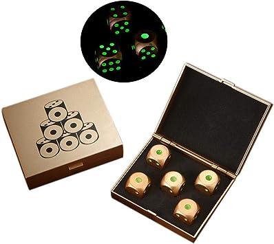 5 Piezas de Metal Sólido Dados, de rol Juegos de mesas de Dados nocturnos Juego de Mesa Cubos de Juego, para Mesa Juego de Mesa Herramienta: Amazon.es: Juguetes y juegos