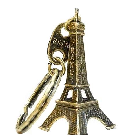 Kongnijiwa Torre Eiffel Anillo de 5 cm Modelo Llavero Torre Retro París Llavero de Metal de Split Key Llavero para Regalos Recuerdos