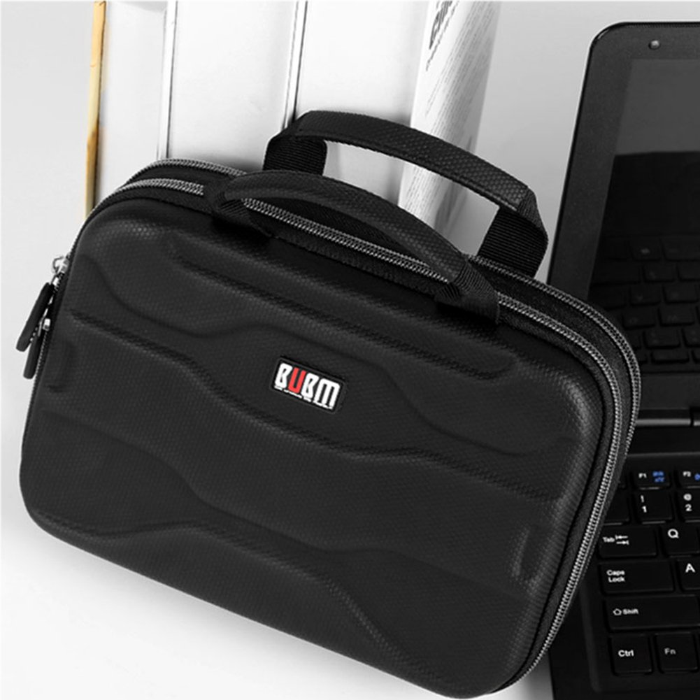 """BUBM Electronic Organizer, Hard Shell Travel Gadget Case with Handle for Cables, USB Drives, Power Bank and More, Fits for iPad Pro 10.5"""", Large by BUBM (Image #6)"""