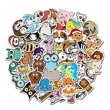 TUDUDU 50 Unids/Pack Animales De Dibujos Animados Pegatina PVC ...
