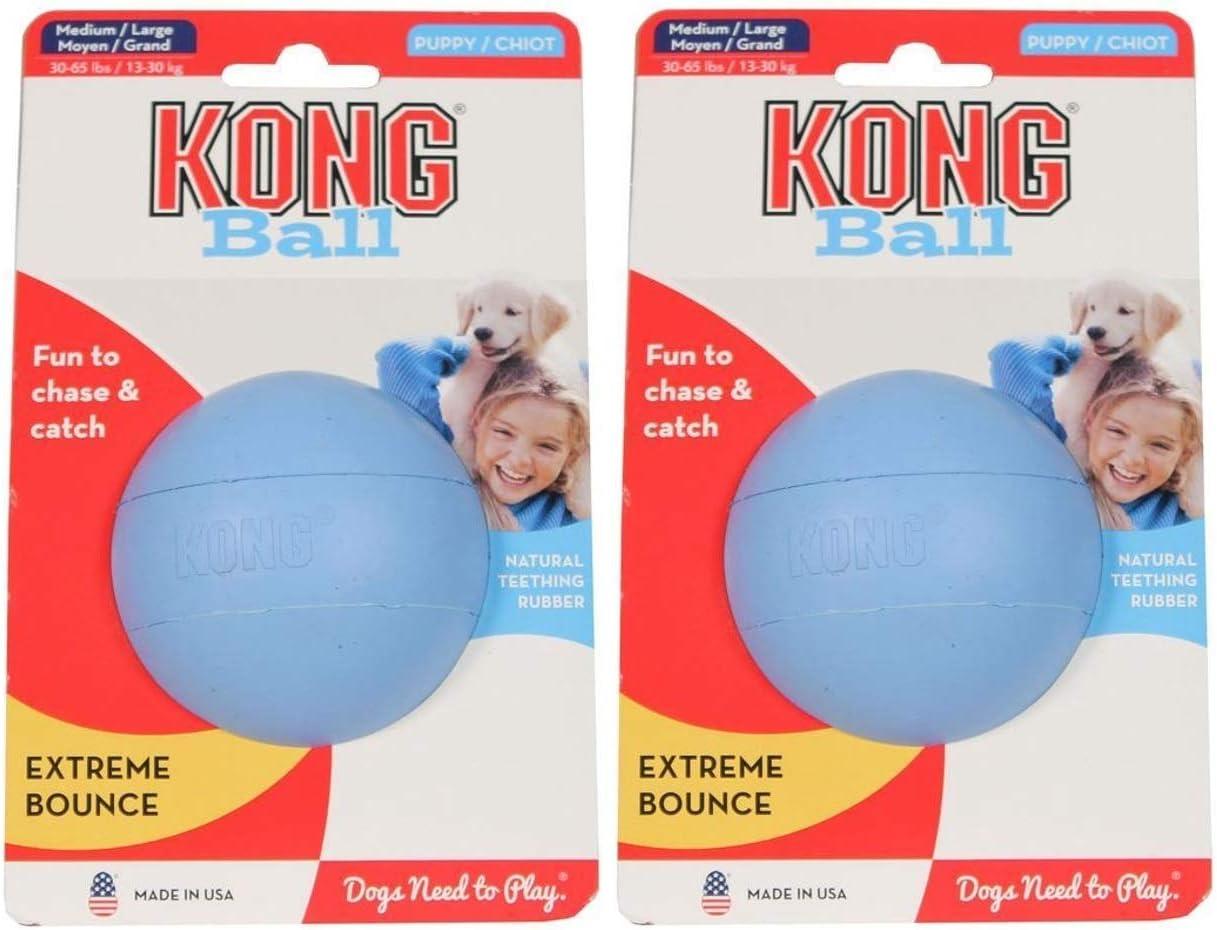 Kong - Pelota para cachorro (2 unidades), tamaño mediano/grande ...