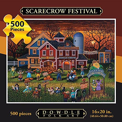 Dowdle Folk Art Scarecrow Festival Puzzle (500 Piece)
