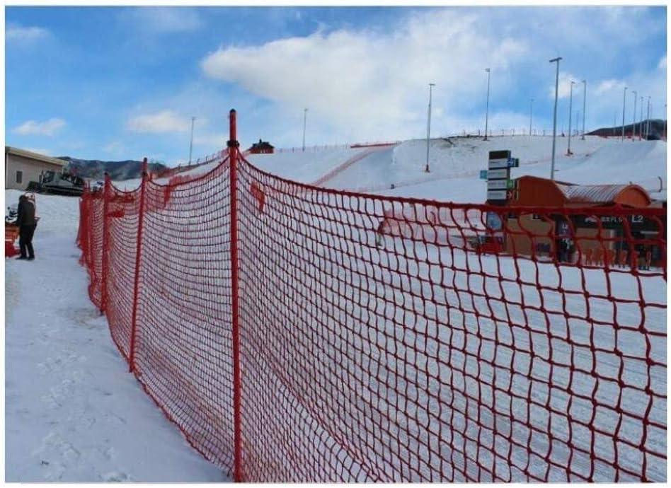 安全柵ネット、子供用階段保護ネット、バルコニー落下防止ネット、ナイロンロープ織網、赤、2*5M (Size : 6*4(18x12ft))