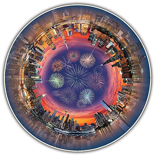 A Broader View's Round Table Puzzle - City Central (500-piece) -