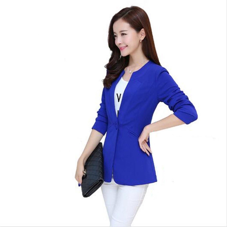 Toping Fine Autumn Women Blazer 7 Colors Coat Elegant Suit Jacket Outwear Long Jackets Coat 5XL Tops C2304 Fruit GreenXX-Large
