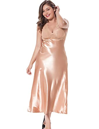 Plus size sexy night gowns