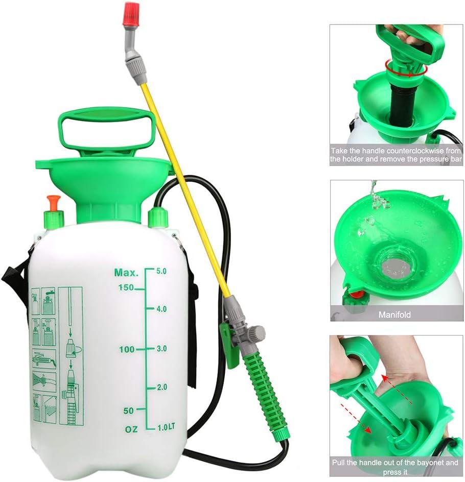 VOXON Pulverizador de Resión Boquilla Ajustable de 5 litros ...
