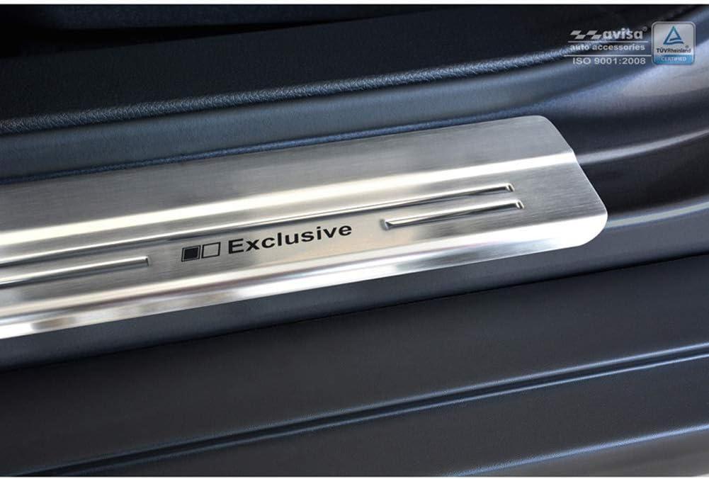 Autostyle 2//14005 INOX Door Sill Protector Silver