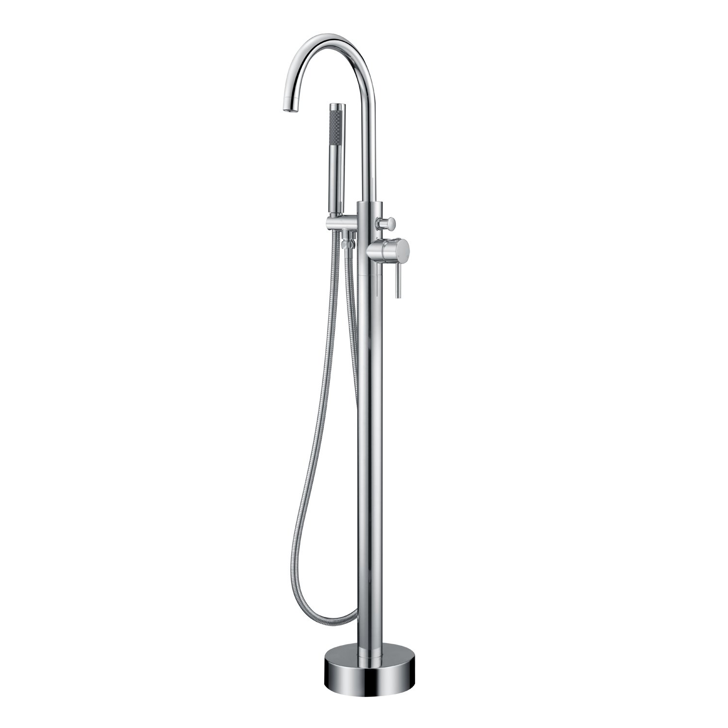 Artiqua Freestanding Tub Filler Bathtub Faucet Chrome Single Handle