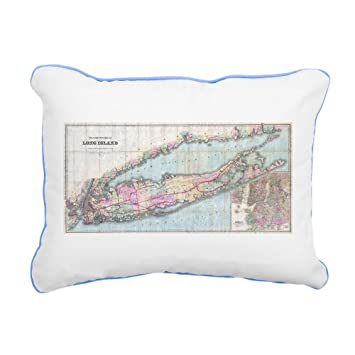Amazon.com: CafePress – Vintage Mapa de largo Isla – 12