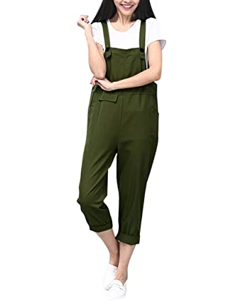 Sobrisah Womens Solid Color Baggy Trousers Wide Leg Dungarees Jumpsuit Playsuit Grey Tag L-UK 10-12