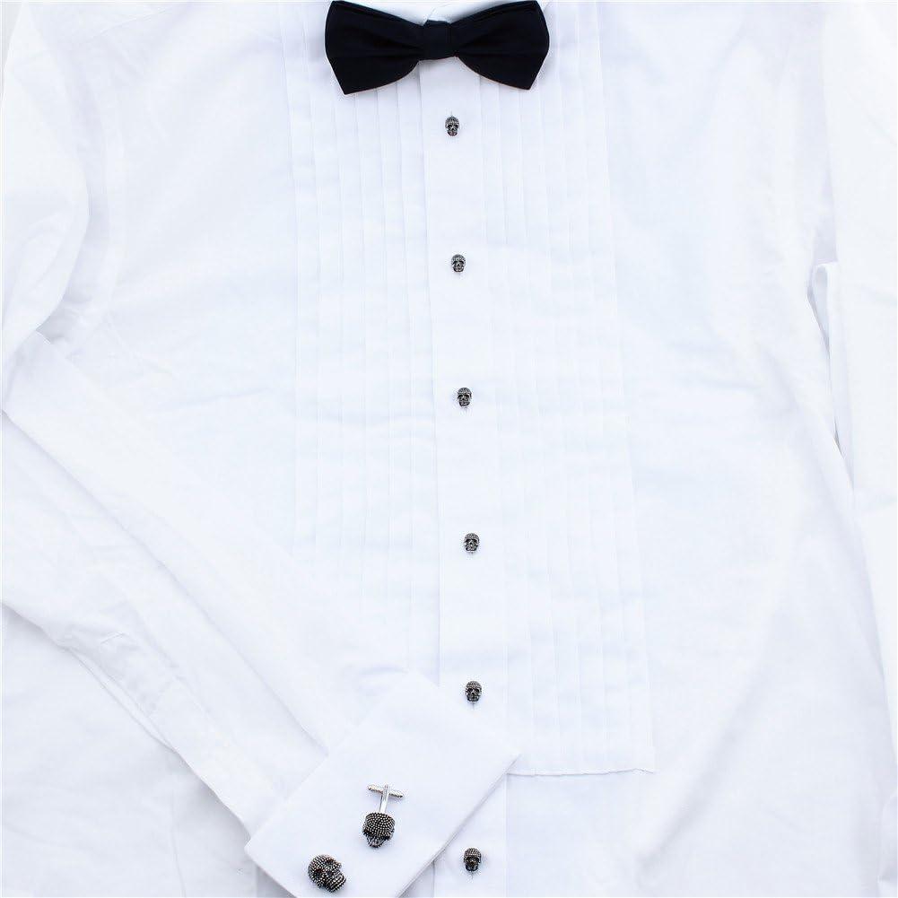 de HAWSON un divertido regalo para Halloween Conjunto de gemelos y botones con forma de calavera para personalizar camisas de hombre