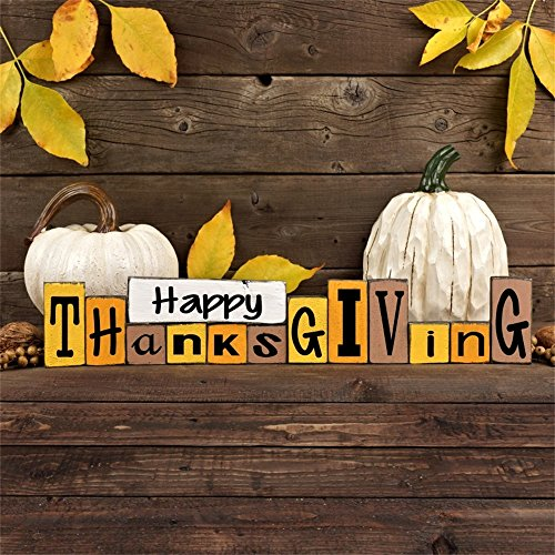 - Leowefowa 8X8FT Happy Thanksgiving Day Backdrop Pumpkins Backdrops for Photography Falling Leaves Rustic Wood Floor Autumn Vinyl Photo Background Kids Adults Studio Props