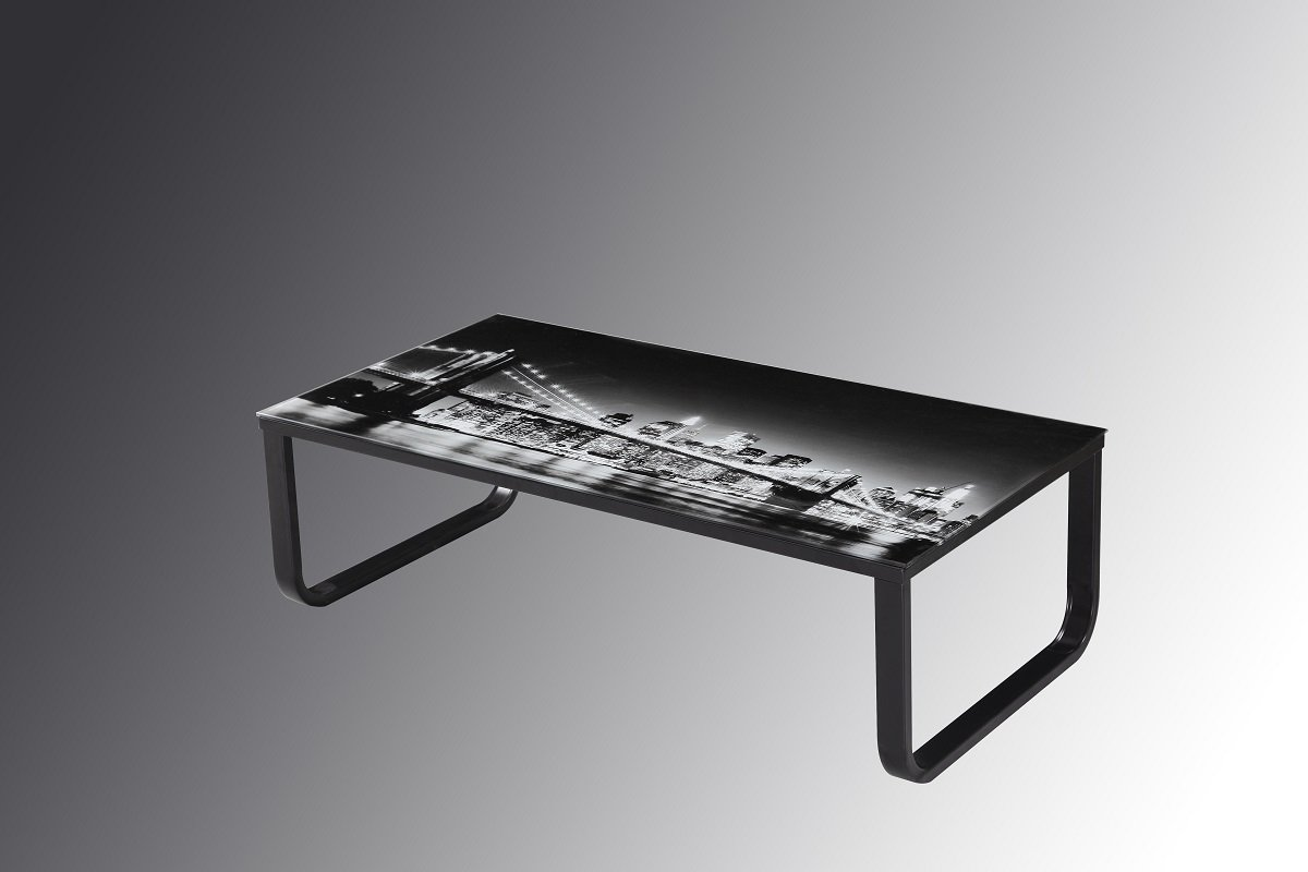 Jadella Glass Table Living Room New York Black White Amazon Co Uk
