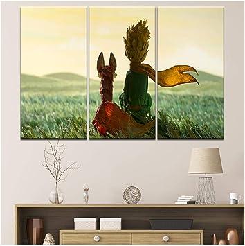 Moda el Principito vivero decoración arte de la pared decoración película cartel sala de estar decoración del hogar cuadros pintura- 40x80cmx3 sin marco: Amazon.es: Bricolaje y herramientas