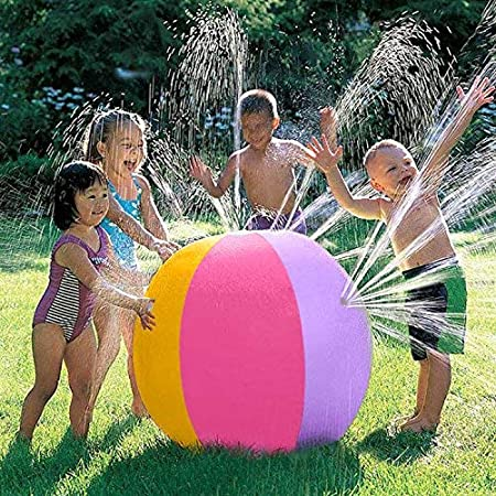 iYoYo 23.6 Inch Water Sprinkler Ball Inflatable Spray Ball Toy Beach Ball for Kids Outdoor Summer Ball Toy for Swimming Party Beach Pool Play, ...