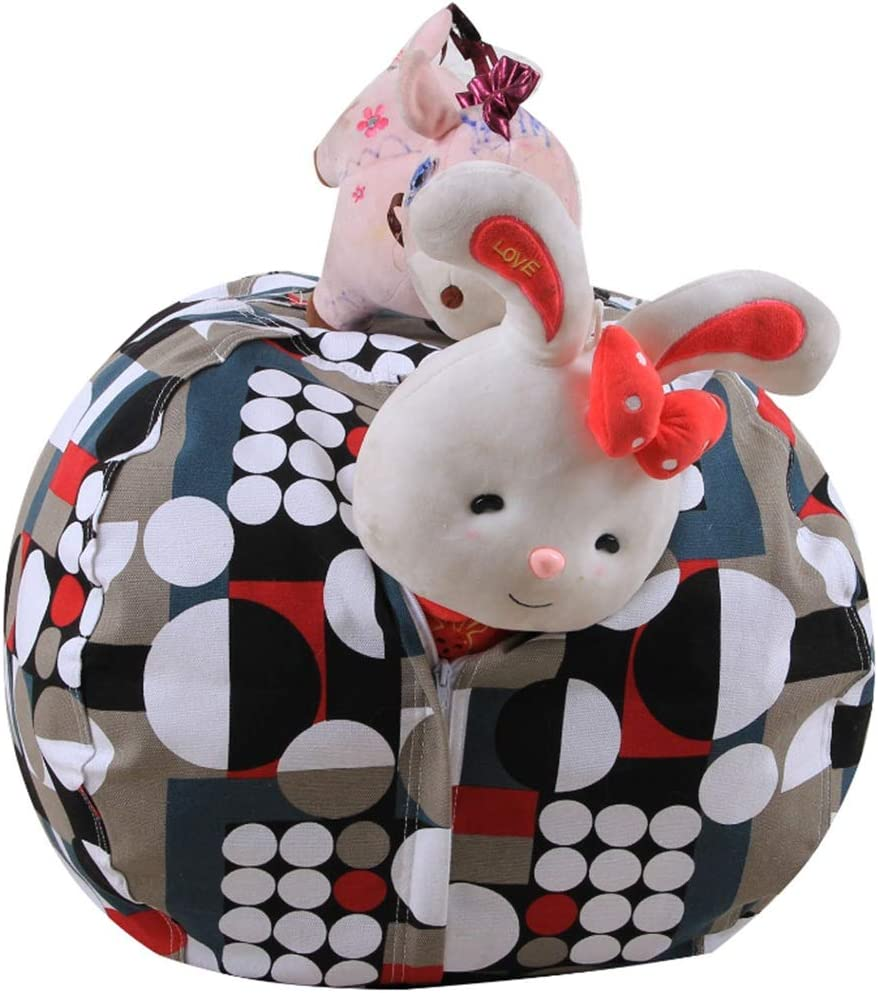 Color : Multi-Colored, Size : 26inch Filled Animals Bean Bag Storage Bag Tissue Plushs Animals Quality Cotton Canvas Storage Box Childrens Household Items