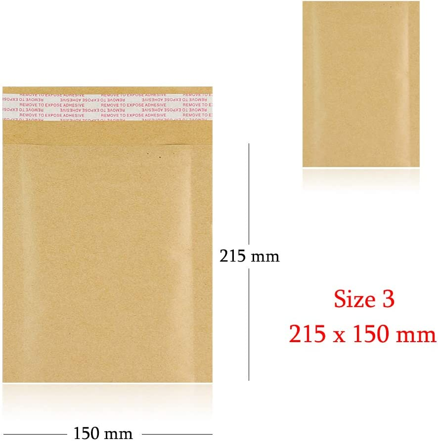 AKAR Padded Envelopes Bubble Lined Gold C//0 150X215mm Bubble Padded Mailers Cheap! 25