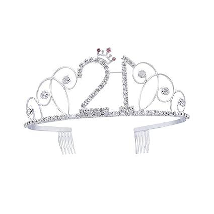 Frcolor Diademe En Cristal Pour Anniversaire Couronne 21 Ans Cadeau