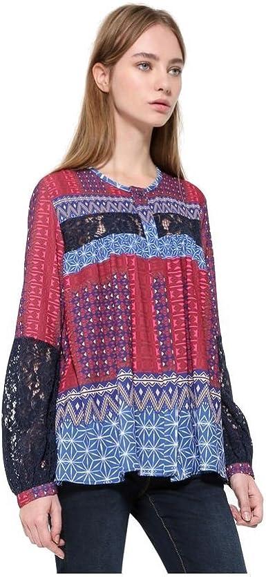 Desigual, Camisa Mona Fucsias (L): Amazon.es: Ropa y accesorios